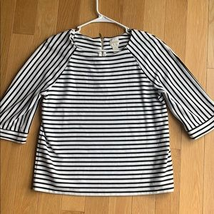 Black and white 3/4 sleeve CHICOS top